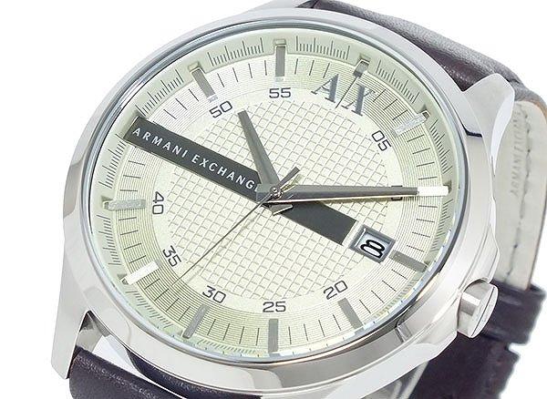 アルマーニ エクスチェンジ ARMANI EXCHANGE 腕時計 AX2100 シルバー × ブラウン 5気圧 防水 日付カレンダー 革ベルト レザー 人気 ブランド アルマーニエクスチェンジ アルマーニ時計 おすすめ ウォッチ 男性 ギフト プレゼント
