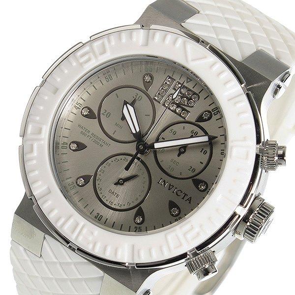 インヴィクタ INVICTA クオーツ クロノグラフ レディース 腕時計 90278 シルバー ホワイト 100M防水 人気 ブランド インビクタ腕時計 インヴィクタ腕時計 女性 ギフト プレゼント