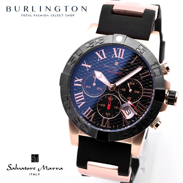 サルバトーレマーラ 腕時計 メンズ Salvatore Marra SM18118-PGBK クロノグラフ ブラック ピンクゴールド 黒 人気 ブランド 時計 おしゃれ おすすめ オススメ 男性 彼氏 誕生日 ギフト プレゼント