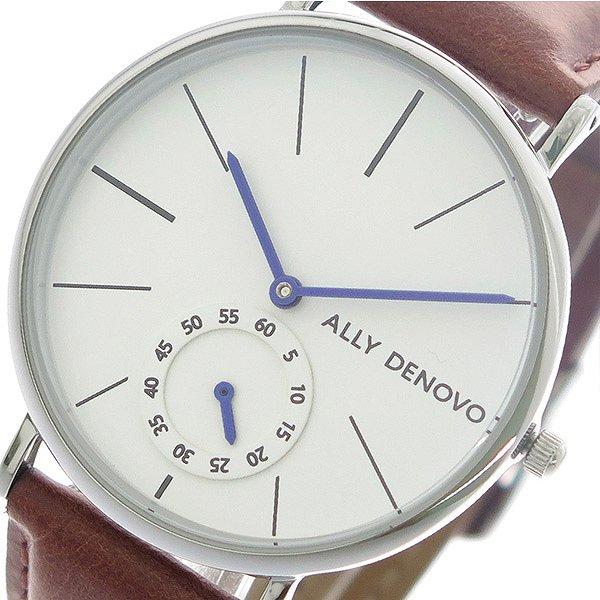 アリーデノヴォ 腕時計 レディース ALLY DENOVO 36mm AF5001-2 HERITAGE SMALL ホワイト ブラウン 人気 ブランド アリーデノヴォ腕時計 アリーデノヴォ時計 おしゃれ 可愛い アリー デノヴォ 時計 女性 ギフト プレゼント