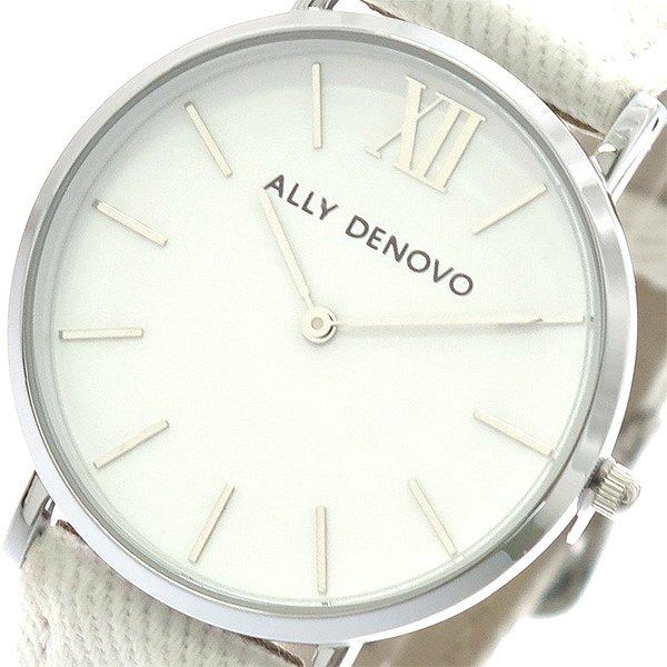 アリーデノヴォ 腕時計 レディース ALLY DENOVO 36mm AF5006-1 NEW VINTAGE DENIM ホワイト 人気 ブランド アリーデノヴォ腕時計 アリーデノヴォ時計 おしゃれ 可愛い アリー デノヴォ 時計 女性 ギフト プレゼント