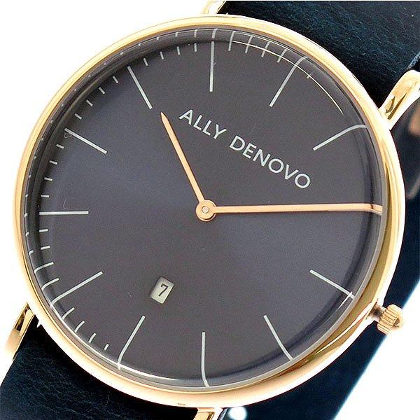 アリーデノヴォ 腕時計 レディース ALLY DENOVO 40mm AM5015-4 HERITAGE ネイビー 人気 ブランド アリーデノヴォ腕時計 アリーデノヴォ時計 おしゃれ 可愛い アリー デノヴォ 時計 女性 ギフト プレゼント