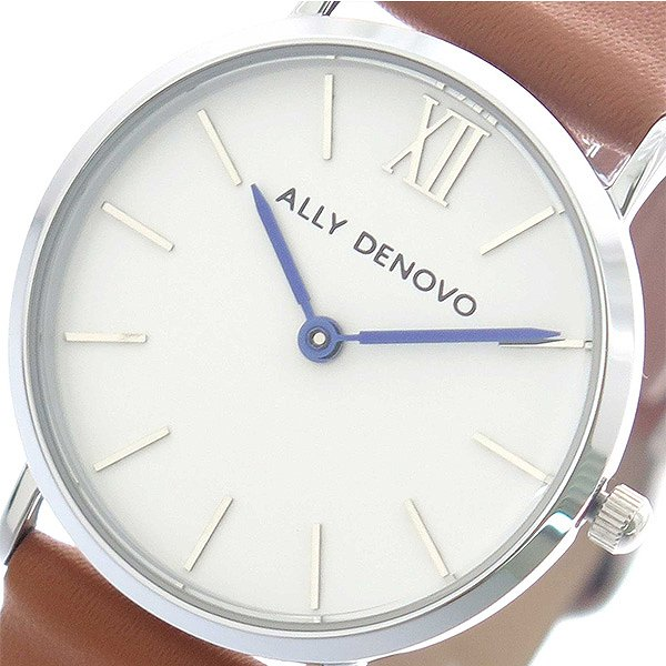 アリーデノヴォ 腕時計 レディース ALLY DENOVO 30mm AS5001-9 MINI NEW VINTAGE ホワイト キャメル 人気 ブランド アリーデノヴォ腕時計 アリーデノヴォ時計 おしゃれ 可愛い アリー デノヴォ 時計 女性 ギフト プレゼント