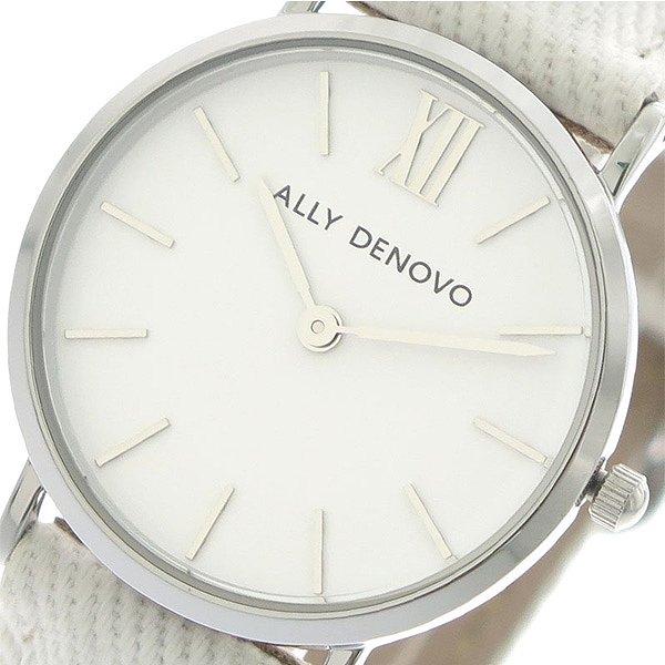 アリーデノヴォ 腕時計 レディース ALLY DENOVO 30mm AS5006-1 MINI NEW VINTAGE DENIM ホワイト 人気 ブランド アリーデノヴォ腕時計 アリーデノヴォ時計 おしゃれ 可愛い アリー デノヴォ 時計 女性 ギフト プレゼント