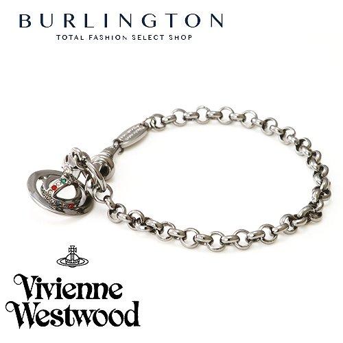 送料無料 Vivienne Westwood ヴィヴィアンウエストウッド ブレスレット レディース オーブ 741467B-4 ガンメタル 人気 ブランド ヴィヴィアン ウエストウッド ヴィヴィアンブレスレット ビビアン おしゃれ かわいい 可愛い アクセサリー 女性 ギフト プレゼント