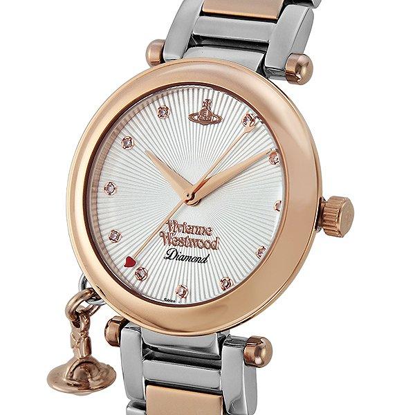 送料無料 ヴィヴィアン ウエストウッド Vivienne Westwood レディース 腕時計 VV006SLRS 天然 ダイヤモンド シルバー ピンクゴールド 人気 ブランド ヴィヴィアンウエストウッド ウォッチ ビビアン 時計 おしゃれ かわいい 可愛い 女性 ギフト 誕生日 プレゼント