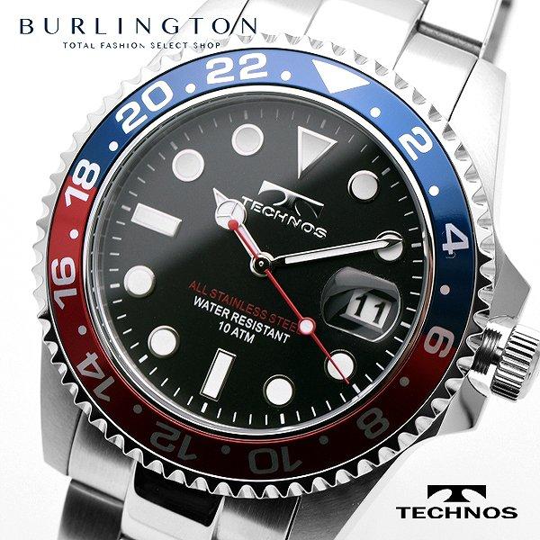 送料無料 テクノス 腕時計 メンズ TECHNOS TSM412NB 時計 レッド ネイビー ブラック シルバー 人気 ブランド ウォッチ 時計 テクノス腕時計 テクノス時計 おしゃれ 男性 誕生日 ギフト プレゼント
