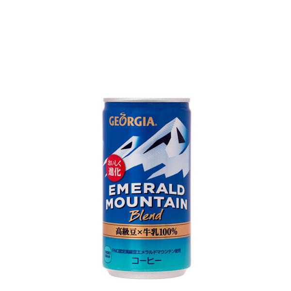 【4ケースセット】ジョージアエメラルドマウンテンブレンド 185g缶 30本入×4ケース