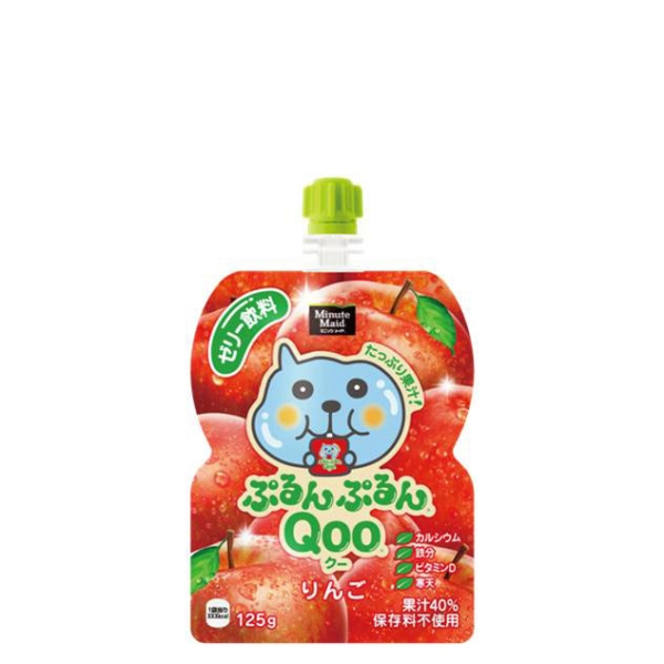 【4ケースセット】ミニッツメイドぷるんぷるんQooりんご125gパウチ 30パック入×4ケース