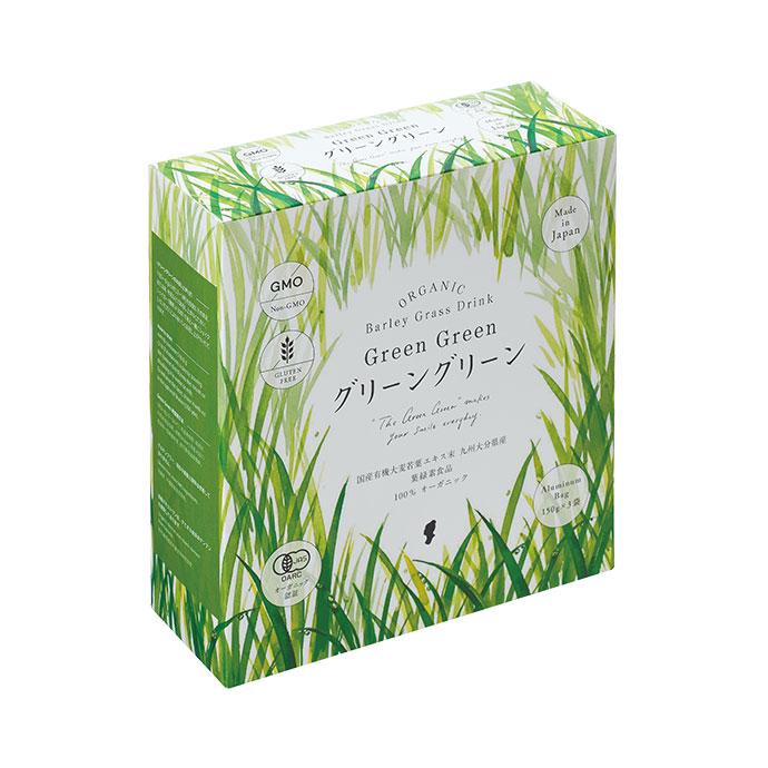 ハリウッド化粧品グリーングリーン EX 150g×3袋~国産有機大麦若葉葉緑素ドリンク~