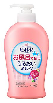 【特売】 花王 ビオレu お風呂で使ううるおいミルク やさしいフローラルの香り (300mL) ぬれた肌用 ボディミルク 保湿乳液 ウェルネス