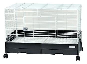 三晃商会 C61 イージーホーム エボ 80-BK ブラック (1個) ウサギ モルモット 飼育ケージ