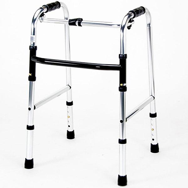 歩行器 アルミ製 軽量 ミニタイプ 背が低い 小柄 使いやすい 持ち運び 収納便利 折り畳み 折りたたみ 高さ調整 マキテック ウォーカーミニ HKM-100 固定型 人気 安い 自宅 施設 プレゼント