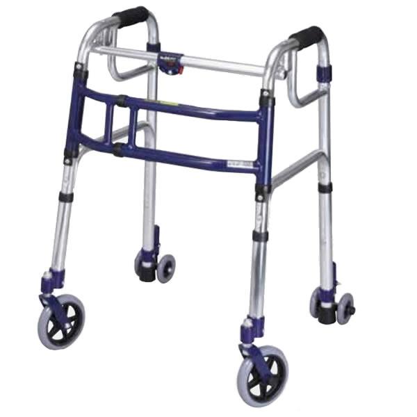 ユーバ産業 送料無料 スライドフィット ロータイプ L-0195C 歩行器 室内 屋外 兼用 固定式 幅伸縮 歩行器 歩行補助 四輪 サポート 施設 病院
