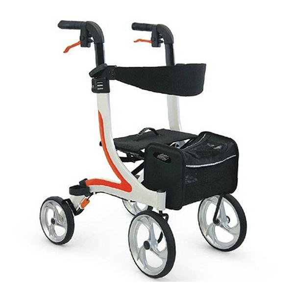 送料無料 歩行車 室内用 屋外用 四輪歩行車 カワムラサイクル KW40 おしゃれ コンパクト 屋内外両用 ハンドル高さ調整 バッグ付 座れる 座面 座席 バッグ取り外し 簡単操作 使いやすい プレゼント 父の日