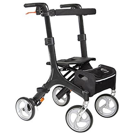 カワムラサイクル カーボン製歩行車 KW50 | 屋外用 室内用 四輪歩行車 歩行器 C'arco カルコ 杖置き付 送料無料