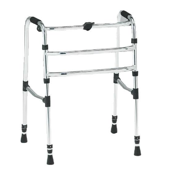 歩行器 固定式 固定歩行 折り畳み 折りたたみ シンプル 使いやすい 松永製作所 CMSシリーズ 前方・後方先ゴムタイプ CMS-90B シンプル 使いやすい 収納便利 歩行補助 リハビリ 施設 自宅 病院 プレゼント 母の日