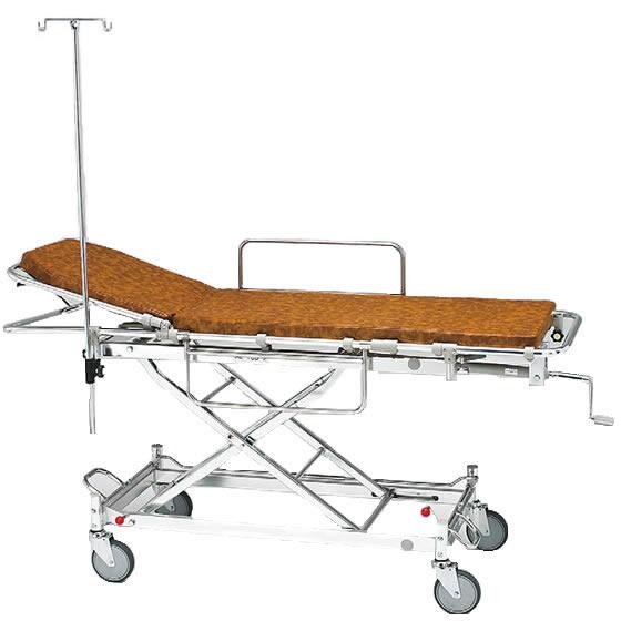 軽量 安心 ストレッチャー ハイロー型 背上げ式 AL-TUD-2 松永製作所 クランクハンドル上下式 担架固定式 アルミ製 トータルロックタイプ イルリガートル 担架 ベッド 病院 施設 介護 福祉 母の日 プレゼント ギフト