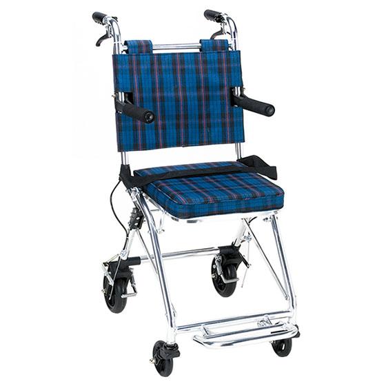 送料無料 マキテック 介助用 コンパクト車椅子 カルティ NP-200NC | 車いす 車イス くるまいす 軽量 折り畳み 折りたたみ ノーパンクタイヤ 介助ブレーキ付き アルミフレーム 安全ベルト