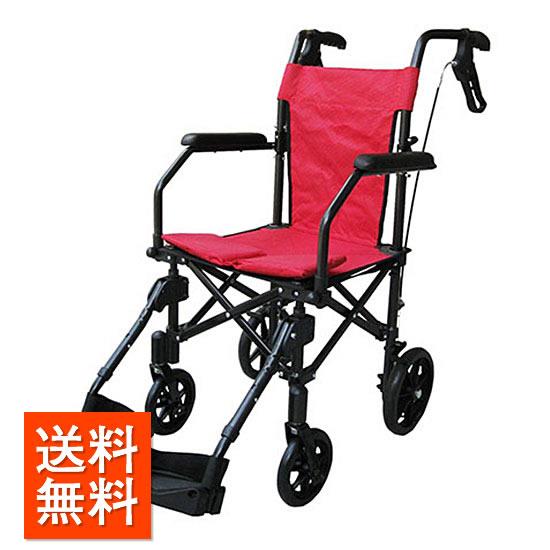 送料無料 車椅子 簡易 コンパクト 軽量 携帯 持ち運び ユーキ・トレーディング ハンディライトプラス 介助用 軽い 旅行 女性 車 トランク 車いす 車イス プレゼント 母の日