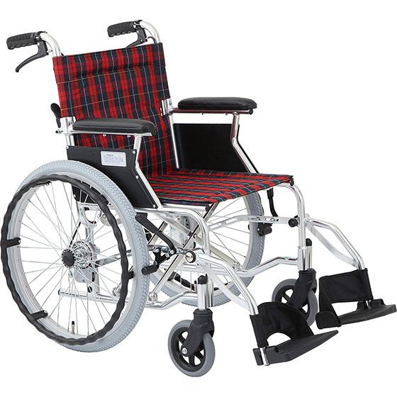 車椅子自走介助兼用車椅子コンパクトタイプ[美和商事]ラクポン HTB-20D車イス/車いす/車椅子/軽量/折り畳み/送料無料