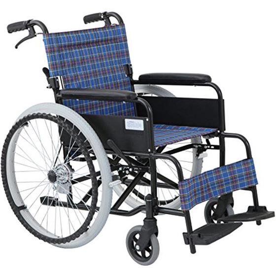 車椅子自走介助兼用車椅子[美和商事]アミー22MW-22AⅡNノーパンク仕様車イス/車いす/車椅子/送料無料
