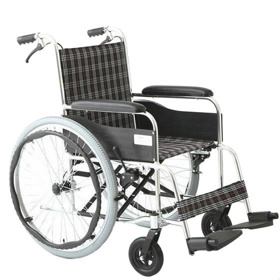 車椅子 自走介助兼用車椅子 アルミ製 [美和商事] アリーズ MW-22AT 車イス/車いす/車椅子/送料無料