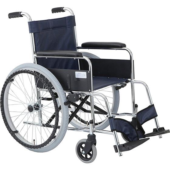 車椅子 自走式車椅子 スチール製 [美和商事] リーズ MW-22ST ガートル掛け標準装備 車イス/車いす/車椅子/送料無料