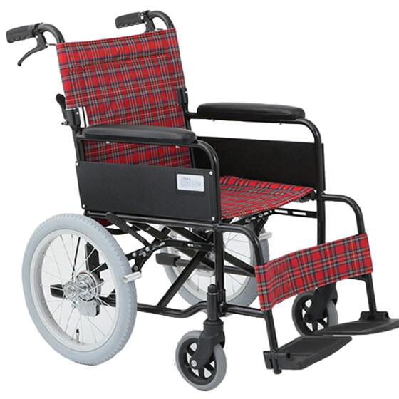 車椅子介助式車椅子シンプルアルミ製[美和商事]アミー16 MW-16A車イス/車いす/車椅子/送料無料