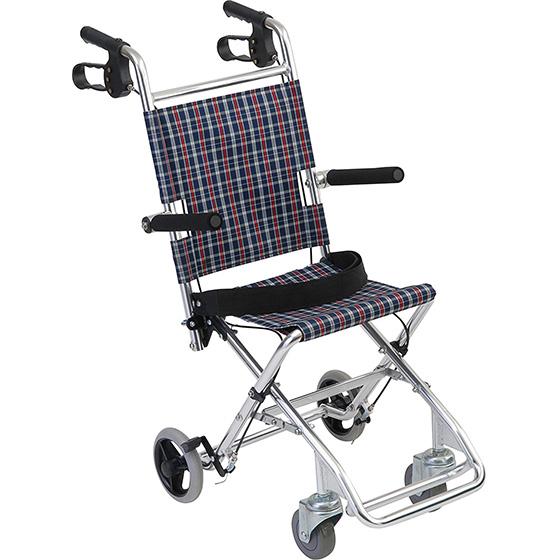車椅子介助式車椅子携帯用簡易車椅子[美和商事]チビポンHTB-AC1車イス/車いす/車椅子/送料無料