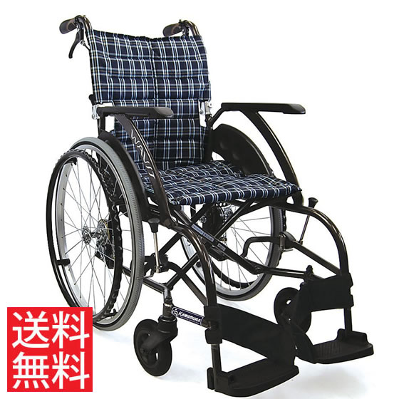 送料無料 カワムラサイクル 自走用 車椅子 WA22-40(42)S ソフトタイヤ(軽量)仕様   車いす 車イス くるまいす 背折れ 軽量 折り畳み 折りたたみ ノーパンクタイヤ 介助ブレーキ付き ドラム式ブレーキ アルミフレーム SGマーク