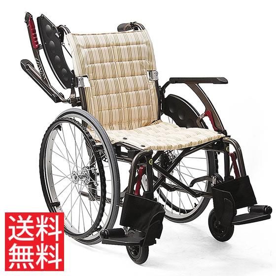 送料無料 カワムラサイクル 自走用 車椅子 WAP22-40(42)S ソフトタイヤ(軽量)仕様 | 車いす 車イス くるまいす 背折れ 折り畳み 折りたたみ ノーパンクタイヤ 介助ブレーキ付き ドラム式ブレーキ アルミフレーム SGマーク