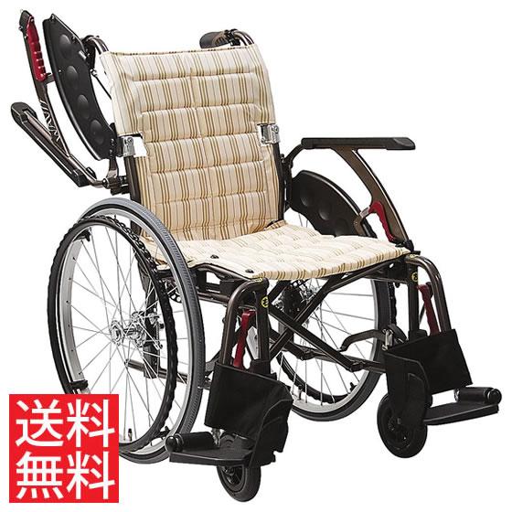 送料無料 カワムラサイクル 自走用 車椅子 WAP22-40(42)A エアタイヤ(軽量)仕様 空気入れ付属 | 車いす 車イス くるまいす 背折れ 折り畳み 折りたたみ エアタイヤ 介助ブレーキ付き ドラム式ブレーキ アルミフレーム SGマーク