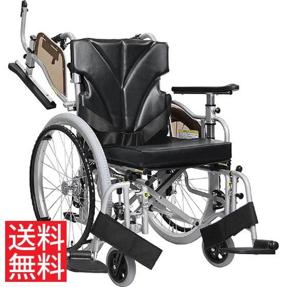 使いやすい シート高さ調節可能 高床 車椅子 跳ね上げ スイングアウト JISマーク 自走用 KZM22-40(38・42)-45 カワムラサイクル 送料無料 折り畳み シートベルト 調整 身長が高い 車イス 車いす くるまいす