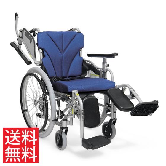 使いやすい シート高さ調節可能 高床 車椅子 肘跳ね上げ スイングアウト エレベーティング 自走用 KZM22-40(38・42)-45EL カワムラサイクル 送料無料 折り畳み 調整 身長が高い 車イス 車いす シートベルト