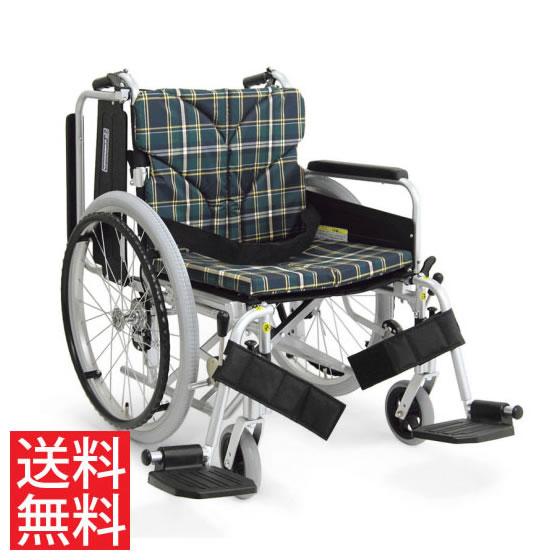 簡易調節 幅広 車椅子 エアタイヤ 自走用 送料無料 カワムラサイクル KA800シリーズ KA822-45B-H モジュール 調整 調節 折り畳み 高床 スイングアウト 肘跳ね上げ 大きいサイズ ワイド 人気 車イス 車いす