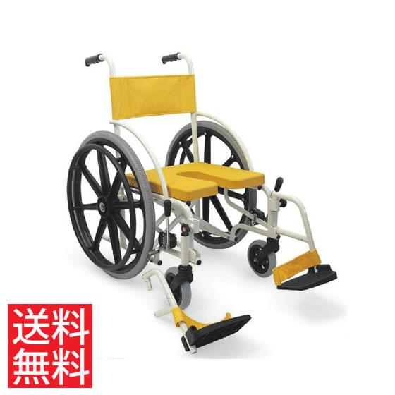 シャワー用 車椅子 KS7 低床 ノーパンクタイヤ 着脱 フットサポート レッグサポート カワムラサイクル 22インチ アルミ製 自走用 病院 施設 在宅 介護 お風呂 入浴 折り畳み 折りたたみ