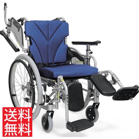 使いやすい シート高さ調節可能 シート奥行調節可能 車椅子 クッション付き 簡易調節 モジュール 跳ね上げ スイングアウト エレベーティング 自走用 KZM22-40(38・42)-43EL カワムラサイクル 送料無料 折り畳み 調整 車イス 車いす