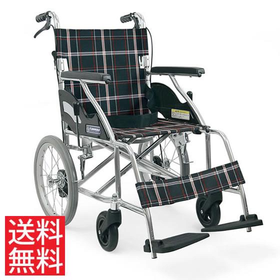 送料無料 カワムラサイクル 介助用 車椅子 KV16-40SB | 車いす 車イス くるまいす 背折れ 折りたたみ 折り畳み ノーパンクタイヤ ハイポリマータイヤ 介助ブレーキ付き バンド式ブレーキ アルミフレーム