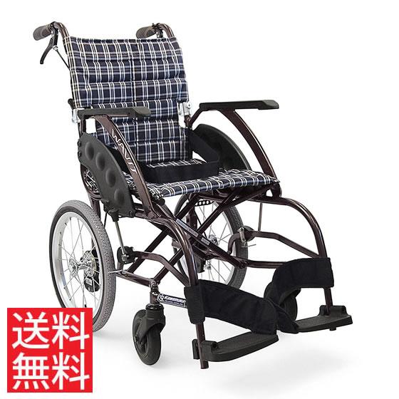 送料無料 カワムラサイクル 介助用 車椅子 WA16-40(42)A エアタイヤ(軽量)仕様 | 車いす 車イス くるまいす 背折れ 軽量 折り畳み 折りたたみ エアタイヤ 介助ブレーキ付き ドラム式ブレーキ アルミフレーム SGマーク