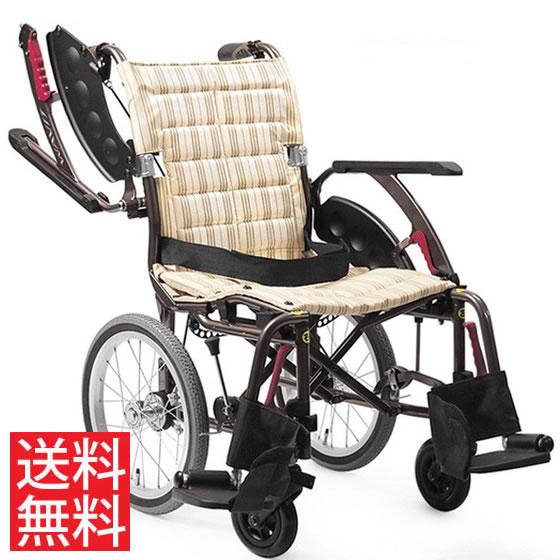 送料無料 カワムラサイクル 介助用 車椅子 WAP16-40(42)A エアタイヤ(軽量)仕様 | 車いす 車イス くるまいす 背折れ 折り畳み 折りたたみ エアタイヤ 介助ブレーキ付き ドラム式ブレーキ アルミフレーム SGマーク