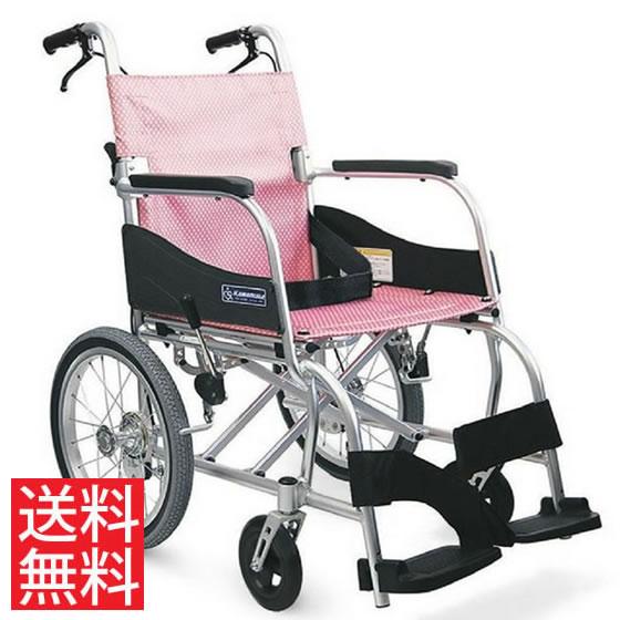 送料無料 カワムラサイクル 介助用 軽量車椅子 ふわりす KF16-40(42)SB | 車いす 車イス くるまいす 背折れ 軽量 折り畳み 折りたたみ エアタイヤ 介助ブレーキ付き バンド式ブレーキ アルミフレーム SGマーク