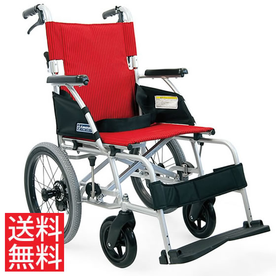 送料無料 カワムラサイクル 介助用 軽量車椅子 BML16-40SB | 車いす 車イス くるまいす 背折れ 軽量 折り畳み 折りたたみ ノーパンクタイヤ 介助ブレーキ付き バンド式ブレーキ アルミフレーム SGマーク