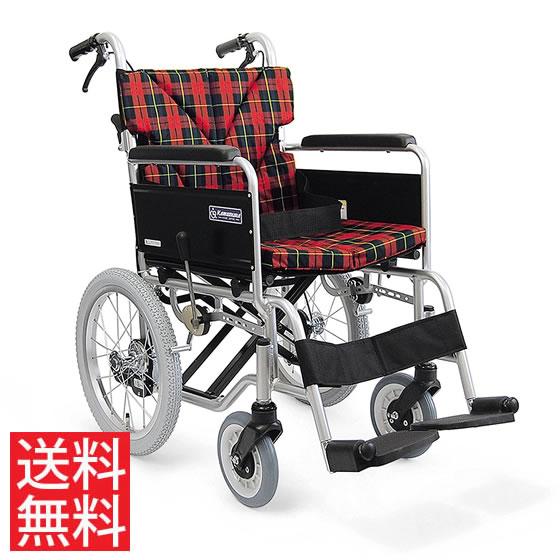 カラー豊富 クッション付き 簡易調節 モジュール 車椅子 介助用 BM16-40(38・42)SB-M-ABF カワムラサイクル 送料無料 16インチ 折り畳み かわいい おしゃれ 花柄 チェック ドット ストライプ フレーム色 調整 調節 車イス 車いす