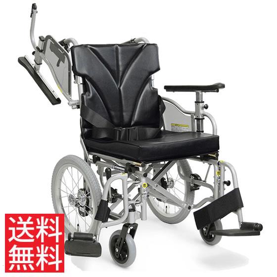 使いやすい シート高さ調節可能 高床 車椅子 クッション付き 跳ね上げ スイングアウト JISマーク 介助用 KZM16-40(38・42)-45 カワムラサイクル 送料無料 16インチ 折り畳み シートベルト 調整 身長が高い 車イス 車いす