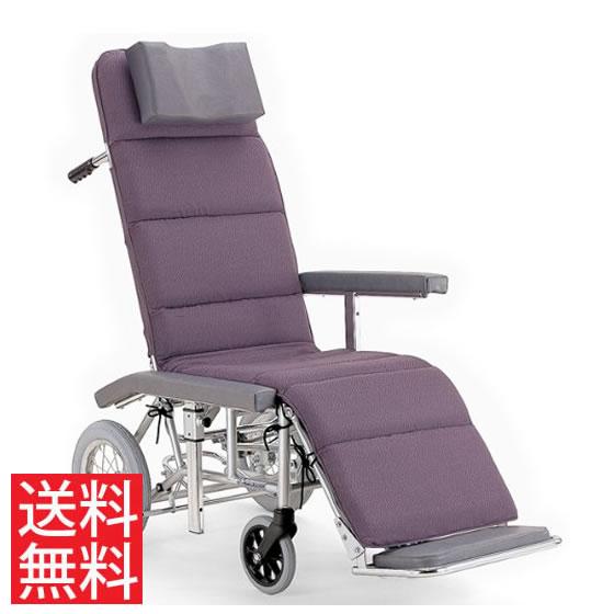送料無料 カワムラサイクル 介助用 フルリクライニング車椅子 RR60N 介助ブレーキなし (背部・脚部)連動仕様 | 車いす 車イス くるまいす エアタイヤ 介助ブレーキなし 足踏み駐車ブレーキ 簡易ストレッチャー