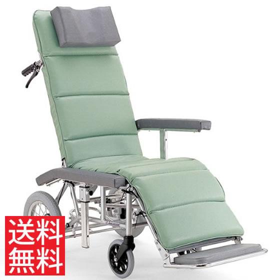 送料無料 カワムラサイクル 介助用 フルリクライニング車椅子 RR60NB 介助ブレーキ付き (背部・脚部)連動仕様 | 車いす 車イス くるまいす エアタイヤ 介助ブレーキ付き バンド式ブレーキ 足踏み駐車ブレーキ 簡易ストレッチャー
