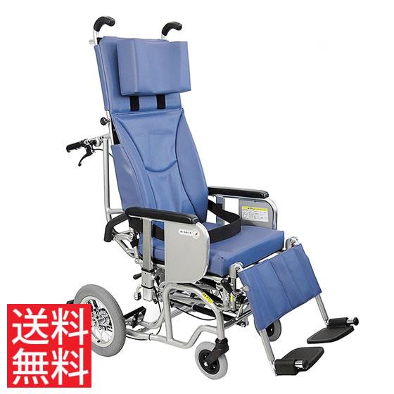 ティルト フルリクライニング 簡易 ストレッチャー 柔らか クッション 座位保持 背もたれ 楽な姿勢 角度を変える 移乗しやすい 車椅子 介助用 送料無料 カワムラサイクル AYK-40 クリオネット 足ベルトタイプ