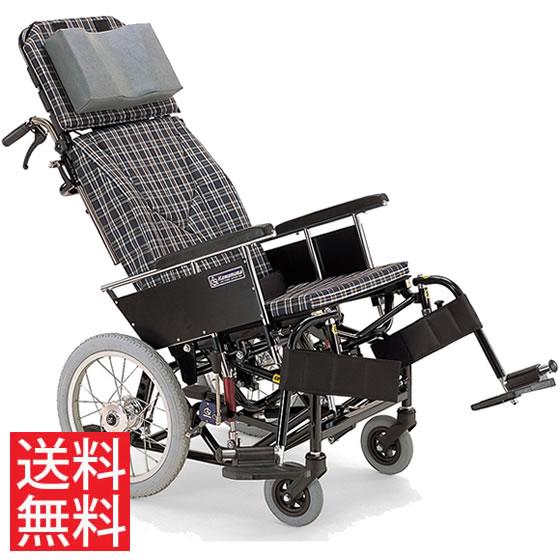 ティルト リクライニング クッション付き ハンドル高さ調節 転倒防止バー スイングアウト 移乗しやすい 車椅子 介助用 送料無料 カワムラサイクル 16インチ KX16-42N 体幹支持 背もたれ 楽な姿勢 角度を変える 車イス 車いす
