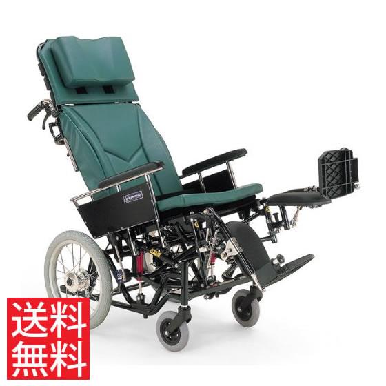 ティルト リクライニング クッション付き ハンドル高さ調節 転倒防止バー 移乗しやすい 車椅子 介助用 送料無料 カワムラサイクル 16インチ KX16-42EL 体幹支持 背もたれ 楽な姿勢 角度を変える 車イス 車いす